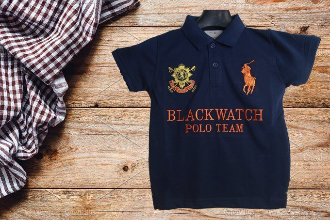 Boys Black Watch Polo
