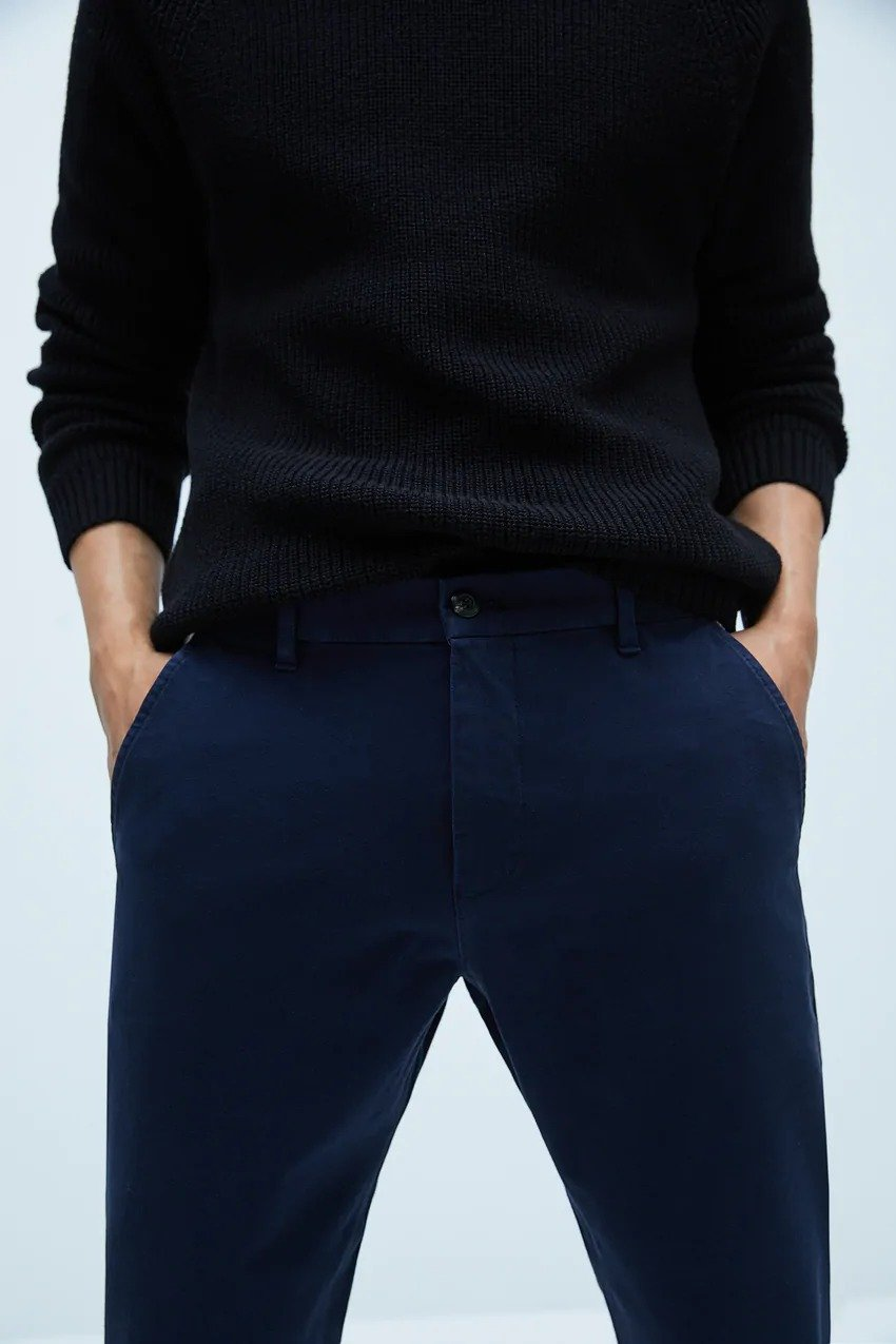 Z A R A SLIM COMFORT FIT CHINO TROUSERS (Original/Export)
